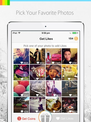 Screenshot Get More Likes for Instagram on iPad