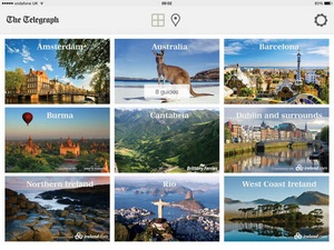Screenshot Travel Guides by The Telegraph on iPad