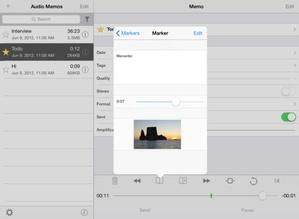 Screenshot Audio Memos Pro on iPad