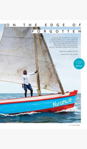 Screenshot ISLANDS Magazine on iPhone