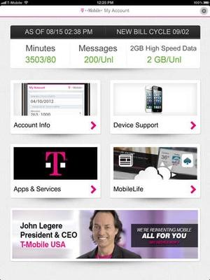 Screenshot T on iPad