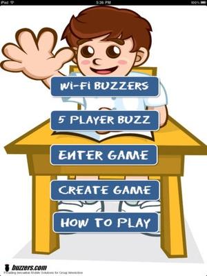 Screenshot PickMeBuzzer on iPad