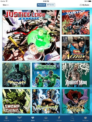 Screenshot DC Comics on iPad