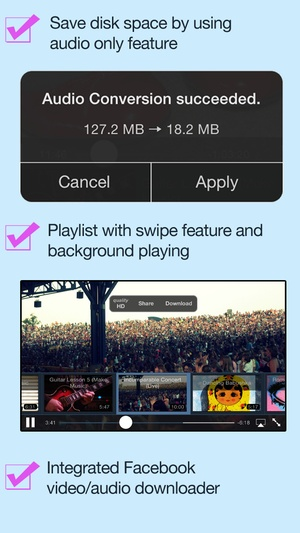 Screenshot VideoGet for Facebook on iPhone