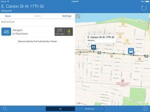 Screenshot Transit Stop on iPad