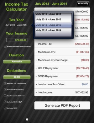 Screenshot TaxApp on iPad