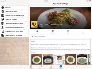 Screenshot Ultra Low Carb Recipes on iPad