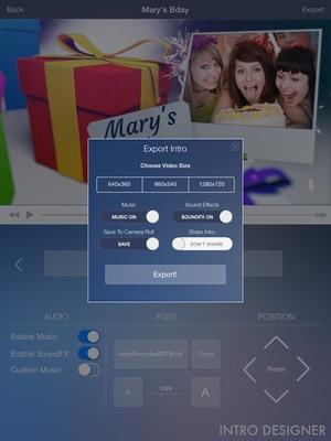 Screenshot Intro Designer Lite on iPad