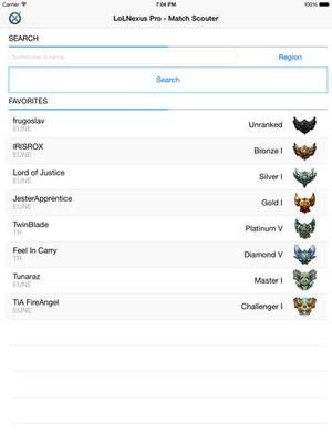 Screenshot LoLNexus Pro on iPad