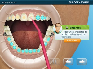 Screenshot Virtual Braces on iPad