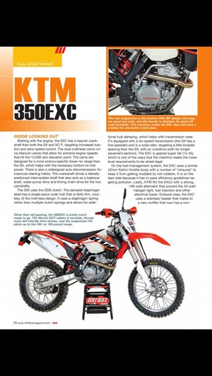 Screenshot Dirt Bike Magazine on iPhone