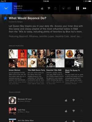 Screenshot Songza on iPad