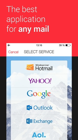 Screenshot myMail on iPhone