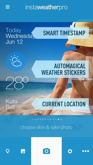 Screenshot InstaWeather on iPhone