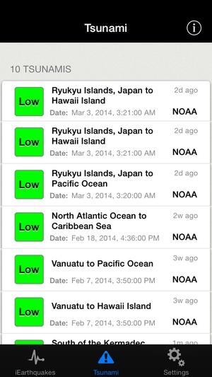 Screenshot iEarthquake Lite on iPhone