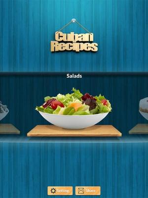 Screenshot cubansRecpes on iPad