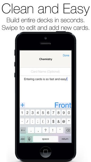 Screenshot Flash Cards Free Flashcards Maker for Studying for Exams, Homework, SAT, MCAT, GRE on iPhone