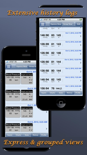 Screenshot Blood Pressure Monitor on iPhone