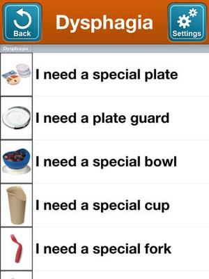 Screenshot SmallTalk Dysphagia on iPad