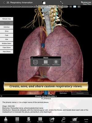 Screenshot Respiratory Anatomy Atlas: Essential Reference for Students and Healthcare Professionals on iPad