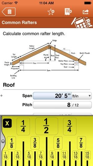 Screenshot Home Builder Pocket Reference on iPhone