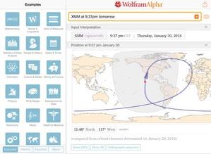 Screenshot WolframAlpha on iPad