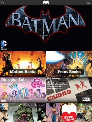 Screenshot Madefire Comics & Motion Books on iPad
