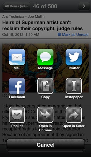 Screenshot Byline on iPhone