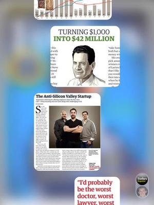 Screenshot Forbes Magazine on iPad