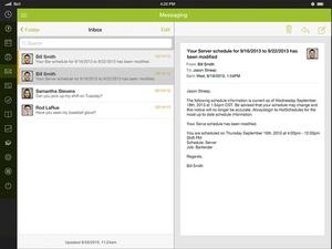 Screenshot HotSchedules on iPad