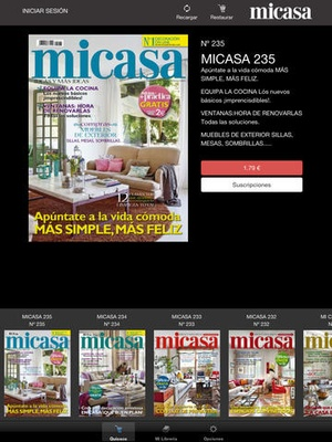 Screenshot MICASA Revista on iPad