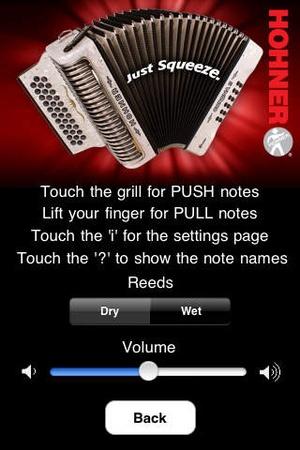 Screenshot Hohner on iPhone