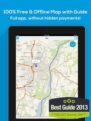 Screenshot New Zealand offline map, guide, weather, hotels. Free GPS navigation. on iPad