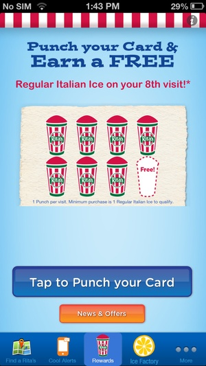 Screenshot Rita's Ice on iPhone