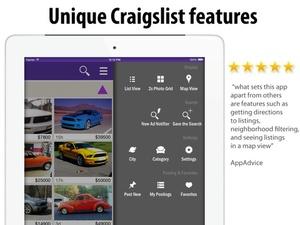 Screenshot cPro Craigslist client  on iPad