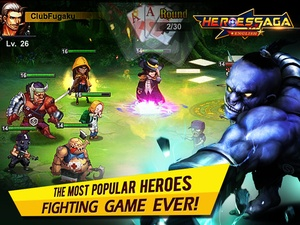 Screenshot Heroes Saga en on iPad