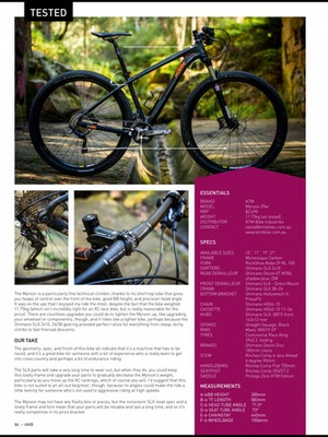 Screenshot Australian Mountain Bike Mag on iPad