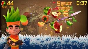 Screenshot Fruit Ninja on iPhone