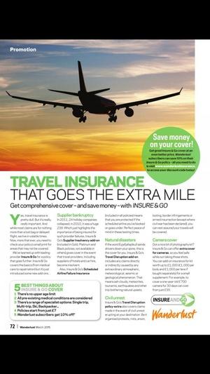 Screenshot Wanderlust Travel Magazine on iPhone