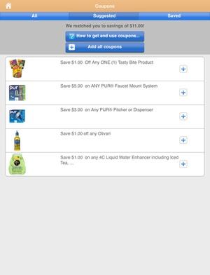 Screenshot Shopper Lite on iPad