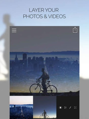 Screenshot Fused : Double Exposure, Video and Photo Blender on iPad