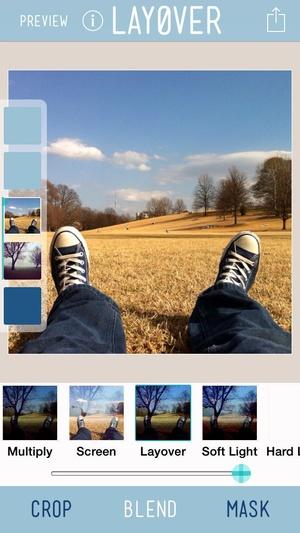 Screenshot Layover on iPhone