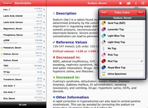 Screenshot Pocket Lab Values on iPad