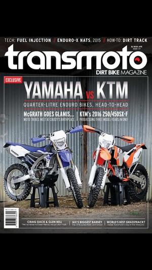 Screenshot Transmoto Dirt Bike Magazine on iPhone