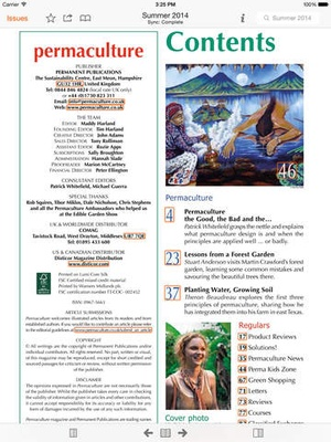 Screenshot Permaculture Magazine on iPad