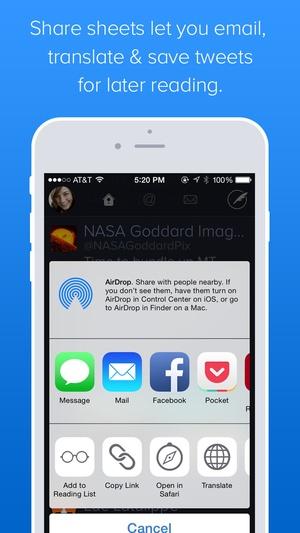 Screenshot Twitterrific 5 for Twitter on iPhone