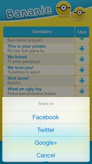 Screenshot Bananie on iPhone