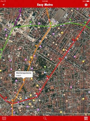 Screenshot EasyMetro Milan on iPad
