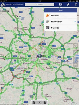 Screenshot MICHELIN Navigation Traffic, GPS, Road Warnings on iPad