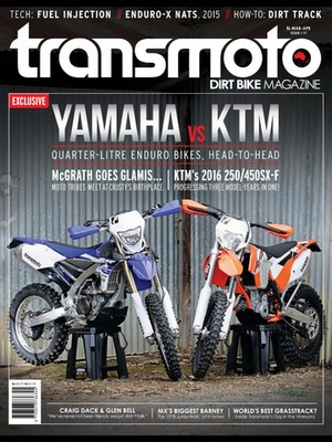 Screenshot Transmoto Dirt Bike Magazine on iPad
